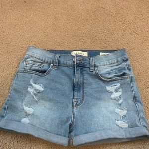 Ripped PacSun light wash shorts